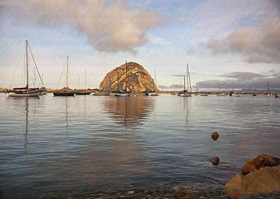 Digital Art - Morro Rocks by Sharon Foster