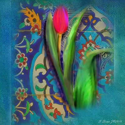 Moroccan Mixed Media - Tulip Beauty by S Seema Z