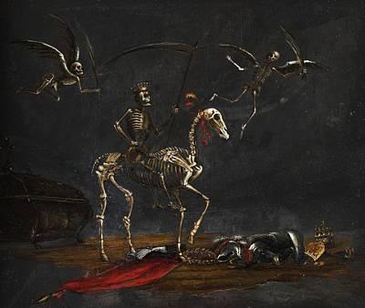 Dutch Master Painting - Mors Thriumphans by Leonaert Bramer