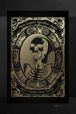 Mors Ultima Linea Rerum - Egbert Van Panderen Engraving In Gold On Black Original by Serge Averbukh
