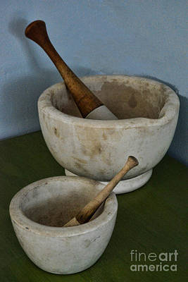 Drug Photograph - Mortar And Pestle A Very Old Pair by Paul Ward
