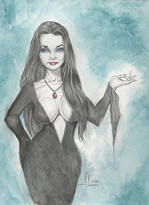 Morticia Addams Art Print by Jimmy Adams