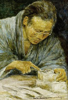 Male Painting - Mortimer L Menpes,  The Carver by Artistic Rifki