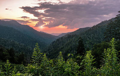 Photograph - Morton Overlook Cloudy Sunset by Rima Biswas