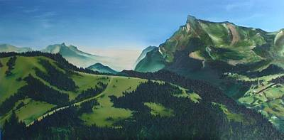 Painting - Morzine by Mira Cooke
