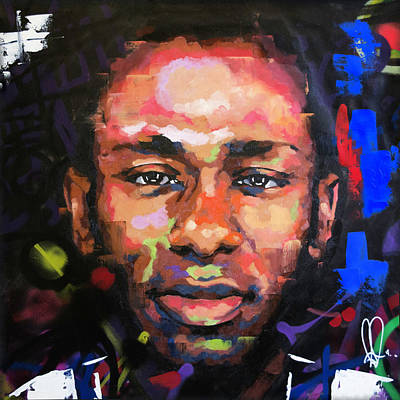 Jay Z Wall Art - Painting - Mos Def by Richard Day