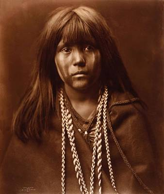 Painting - Mosa, Mohave Girl, By Edward S. Curtis, 1903 by Edward S Curtis