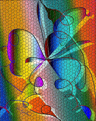 Digital Art - Mosaic #105 A by Iris Gelbart