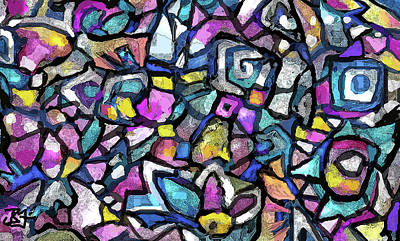 Digital Art - Mosaic 17 by Jean Batzell Fitzgerald
