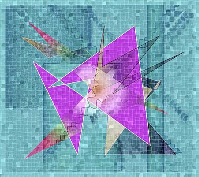 Digital Art - Mosaic #190 by Iris Gelbart