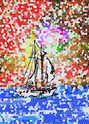 Mosaic Mixed Media - Mosaic 2 by Mimo Krouzian