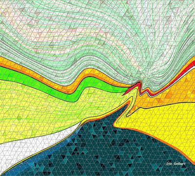 Digital Art - Mosaic #30 Ab by Iris Gelbart