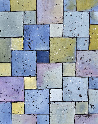 Mozaic Painting - Mosaic Abstract by James Pinkerton