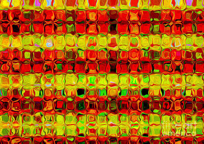 Photograph - Mosaic Abstract - Red Yellow By Kaye Menner by Kaye Menner