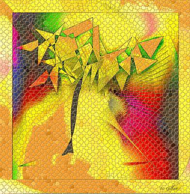 Digital Art - Mosaic Abstract Tree by Iris Gelbart