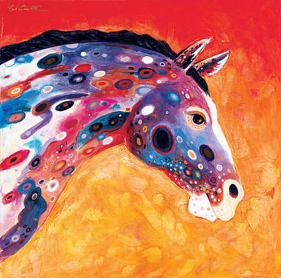 Abstract Realism Painting - Mosaic Appaloosa II by Bob Coonts