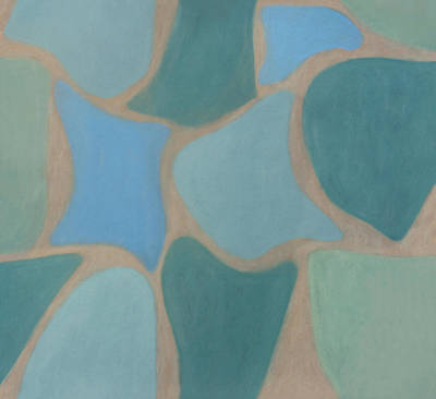 Painting - Mosaic Aqua by Flavia Westerwelle