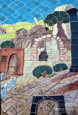 Photograph - Mosaic Art At Petra by Mae Wertz