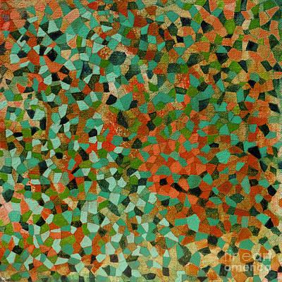 Tribal Art Painting - Mosaic Artwork 04 by Gull G
