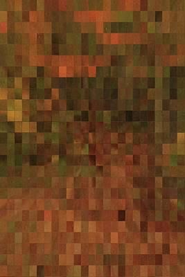 Mosaic Mixed Media - Mosaic Autumn Tiles by Dan Sproul