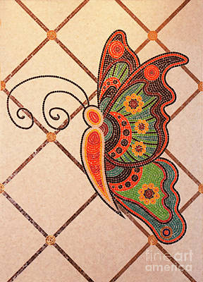 Mosaic Butterfly Original by Linda Phelps