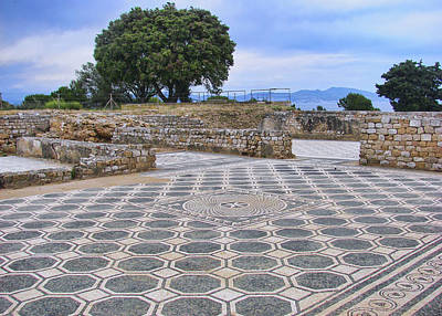 Photograph - Mosaic By The Sea - Empuries by Nikolyn McDonald