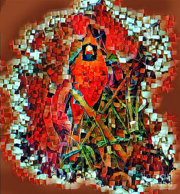 Photograph - Mosaic Cardinal by Paul Wilford