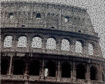 Photograph - Mosaic Coliseum by Christopher Kirby