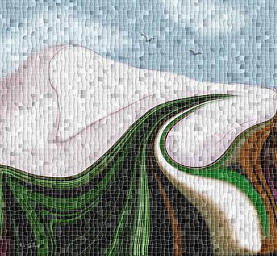 Digital Art - Mosaic Country Roads by Iris Gelbart
