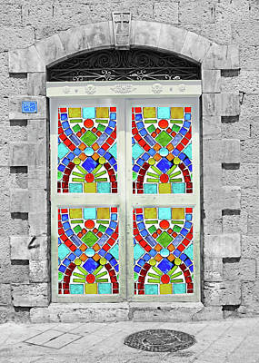 Photograph - Mosaic Door by Munir Alawi