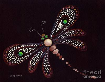 Painting - Mosaic Dragonfly by Anita Carden