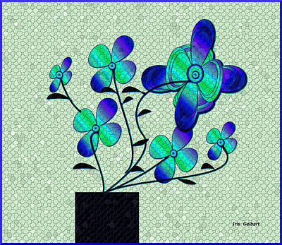 Digital Art - Mosaic Fantasy House Plant by Iris Gelbart