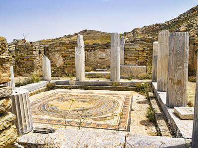 Photograph - Mosaic Floored Temple On Delos by Brenda Kean