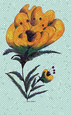 Digital Art - Mosaic Flower by Iris Gelbart