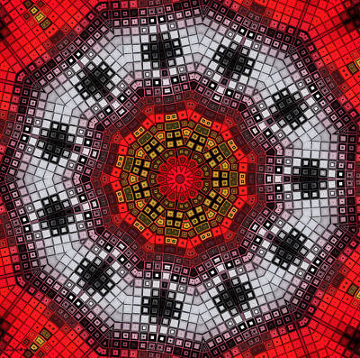 Digital Art - Mosaic Kaleidoscope 2 by Shawna Rowe
