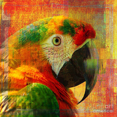 Digital Art - Mosaic Macaw 2016 by Kathryn Strick