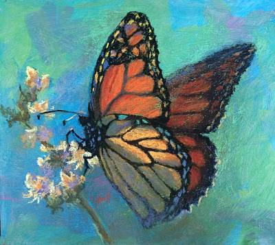 Mosaic Monarch Art Print