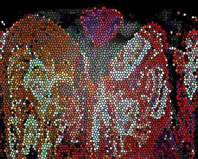 Digital Art - Mosaic Moon 3 by Lynda Lehmann