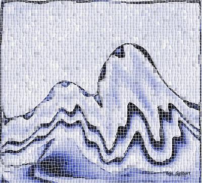 Digital Art - Mosaic Mountain by Iris Gelbart