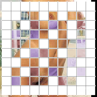 Digital Art - Mosaic Nude  009 13 01 2016 by Algirdas Lukas