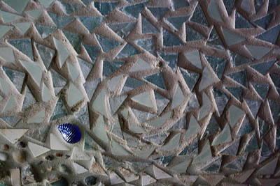 Mosaic Ocean Swirls Art Print