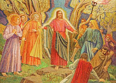 Photograph - Mosaic Of Arresting Of Jesus by Munir Alawi