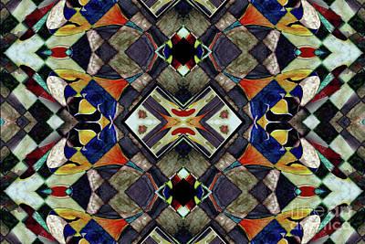 Mosaic Mixed Media - Mosaic Patterns by Jolanta Anna Karolska