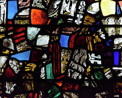 Photograph - Mosaic Stained Glass A by Jacek Wojnarowski