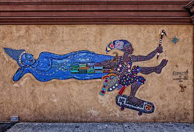 Harlem Ny Photograph - Mosaic Street Art East Harlem Ny by Robert Ullmann