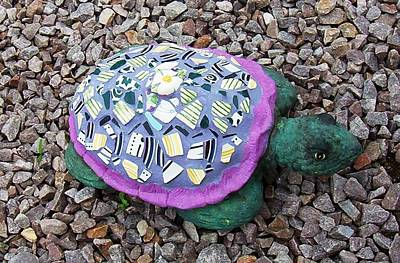 Ceramic Art - Mosaic Turtle by Jamie Frier