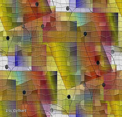 Digital Art - Mosaic Twigs And Berries by Iris Gelbart