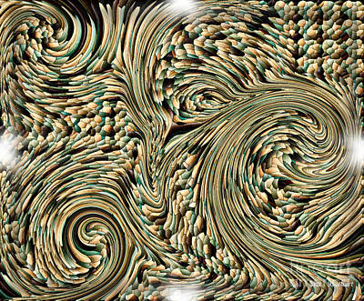 Digital Art - Mosaic Twist by Iris Gelbart