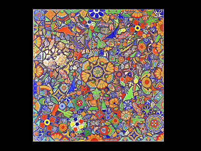 Mosaic Wall Hanging Or Table Top Made With Talavera Tiles Original