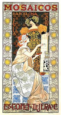 Mixed Media - Mosaicos - Escofet Tejera Y Cia - Barcelona, Madrid, Sevilla - Vintage Spanish Advertising Poster by Studio Grafiikka